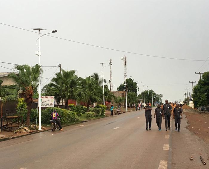 Solar Street Light in Cameroon