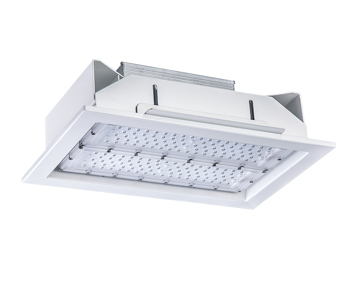 ATEX 100w Recessed led petrol station lighting