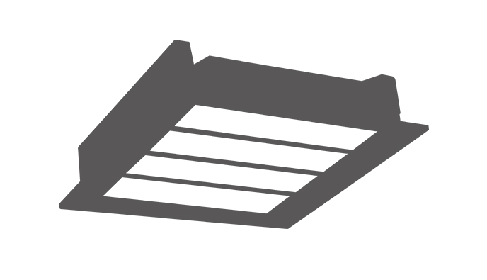 Recessed LED Gas Station Light