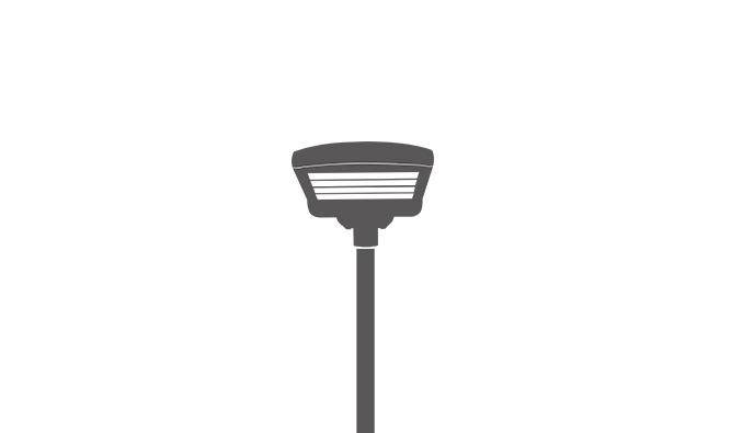 High Lumen LED Parking Lot Light